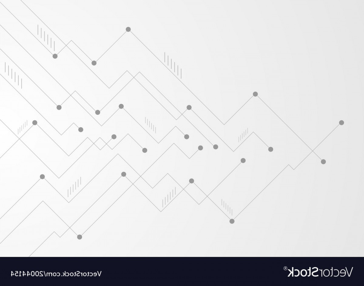 Chip Lines Vector: Abstract Grey Tech Circuit Board Lines Chip Vector