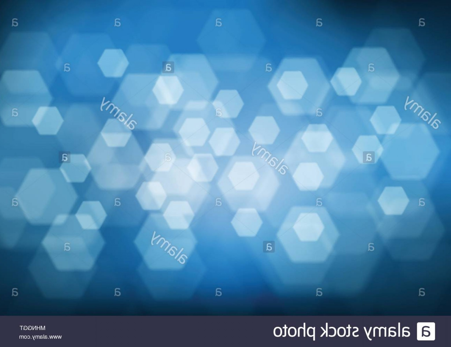 Vector Blue Luxury: Abstract Hexagon Bokeh Light On Blue Luxury Background Vector Illustration Image