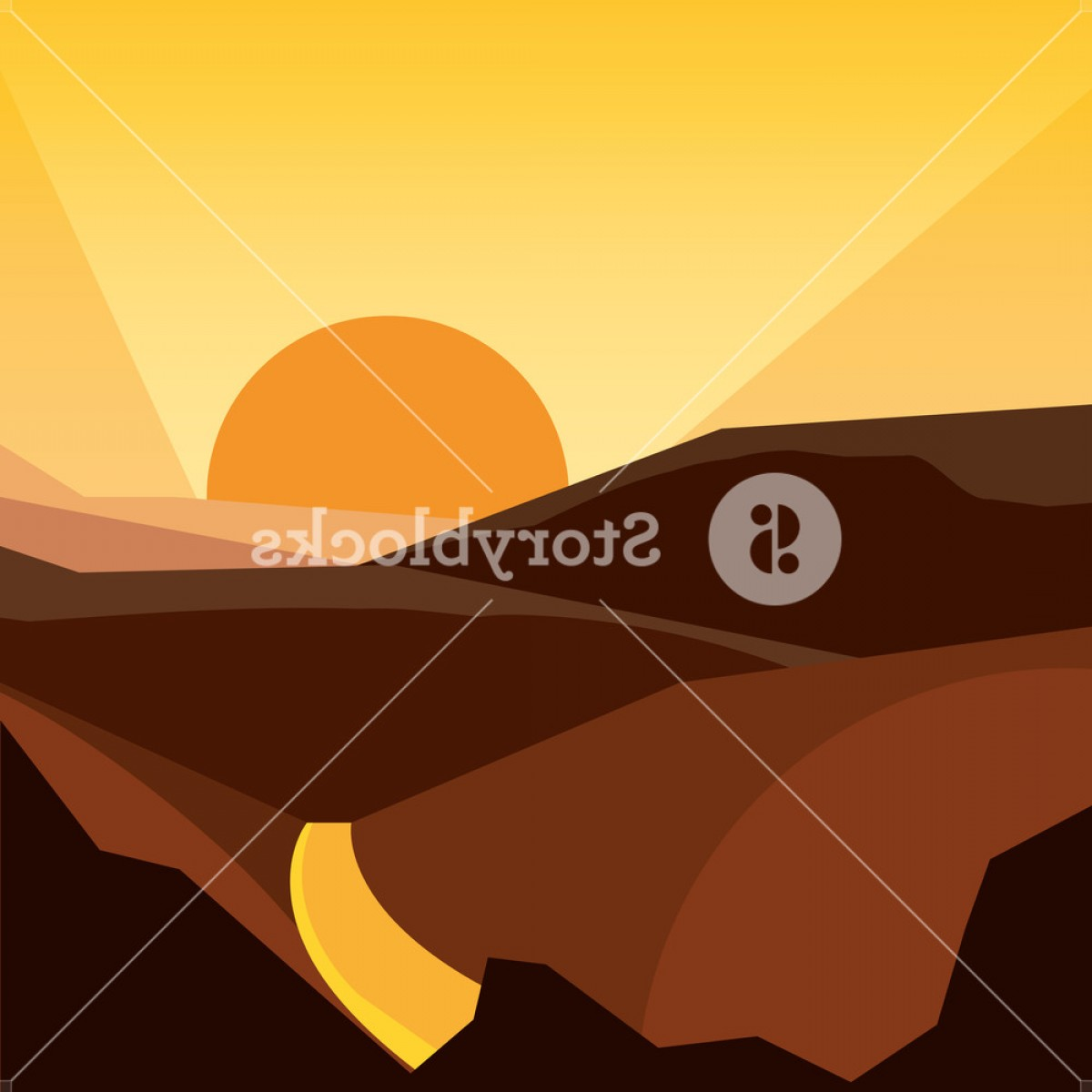 Sunset Road Background Vector: Abstract Image Of A Sunset Or Dawn Sun Over The Road At The Background Colorful Design Vector Illustration Hzcbtmnmimjfljwn
