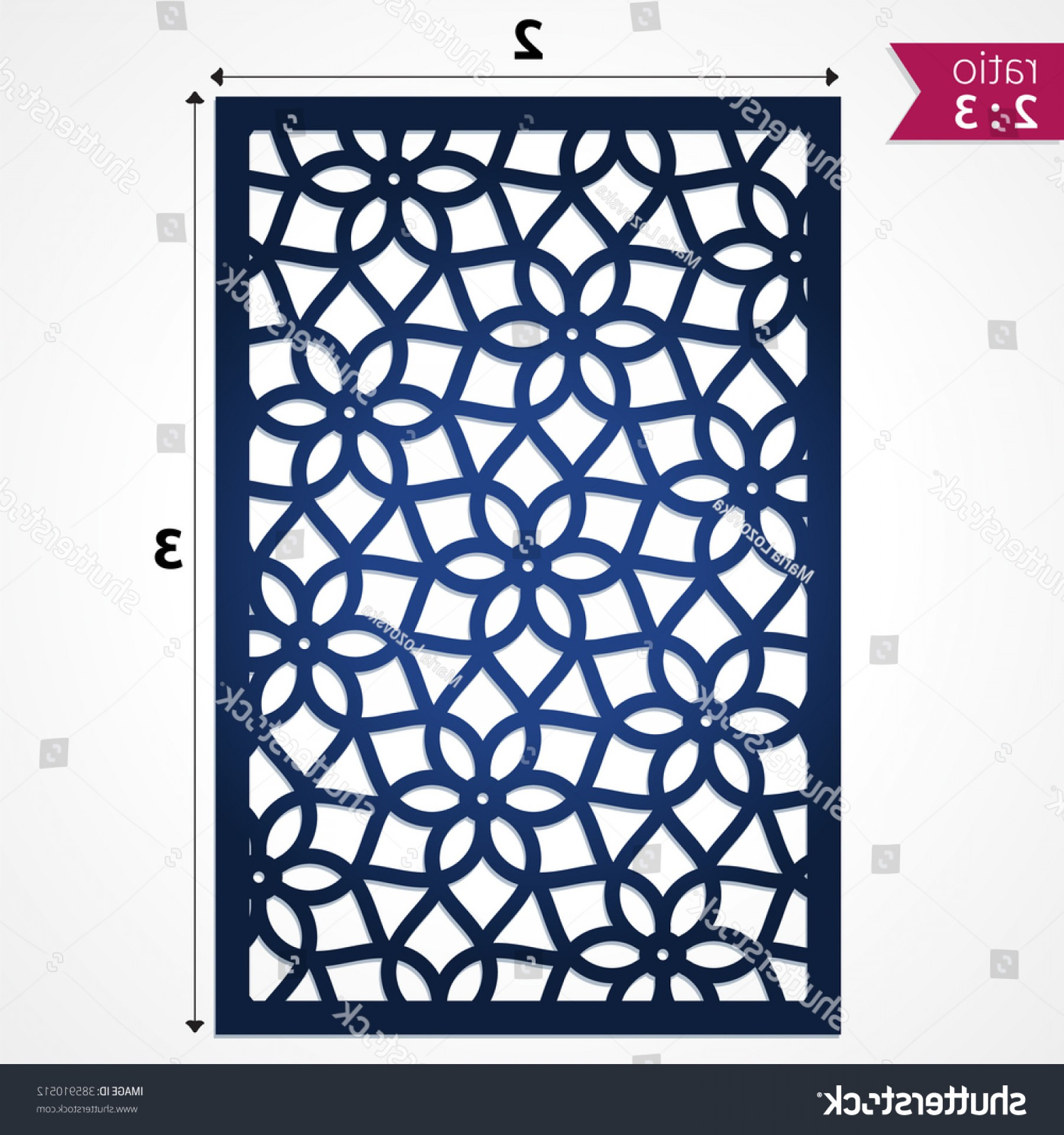 Looking For A Laser That Can Be Cut Using Files Vector: Abstract Laser Cut Pattern Background Die