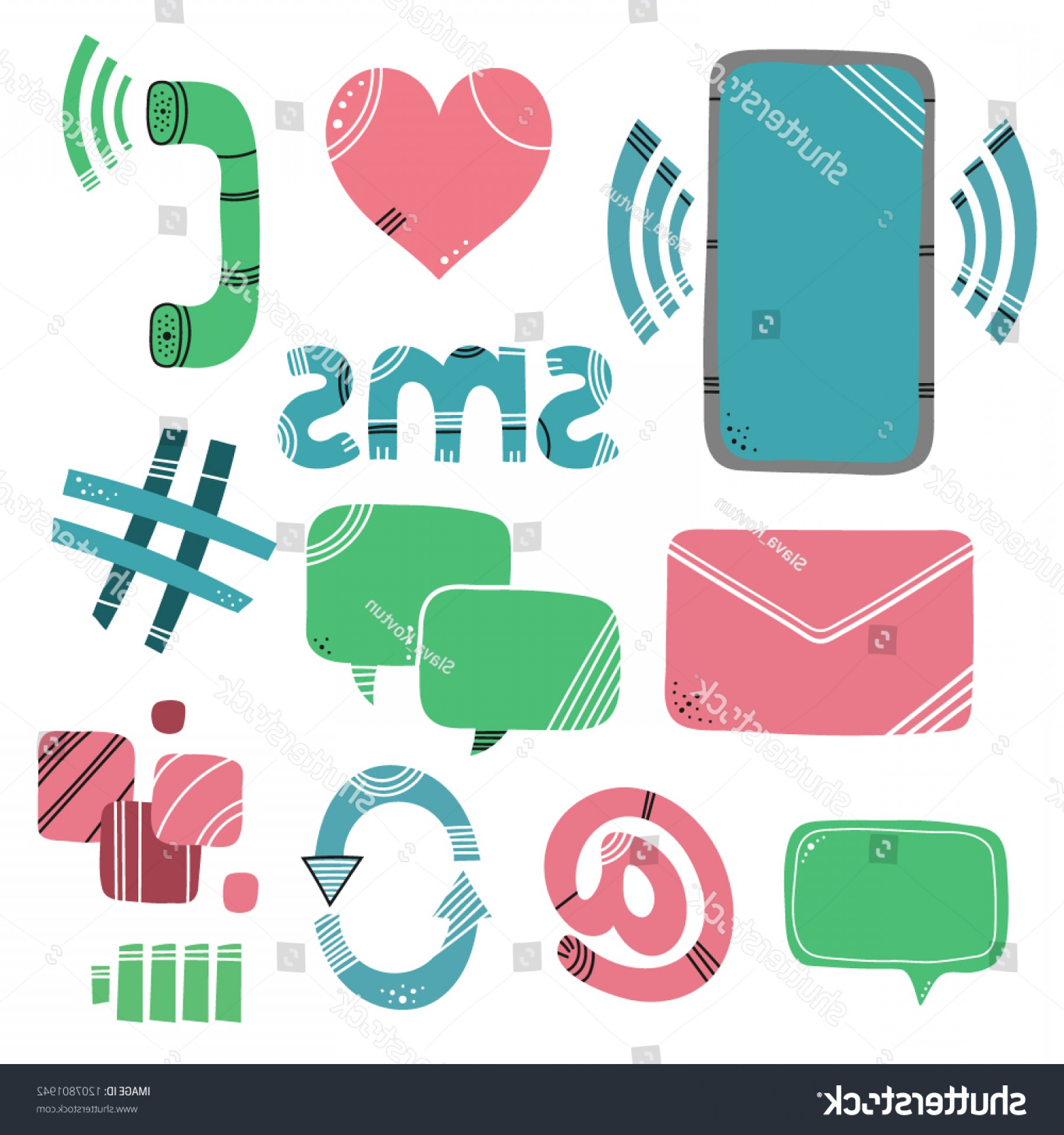 Tumblr App Icon Vector: Abstract Mobile Phone App Icons Illustration