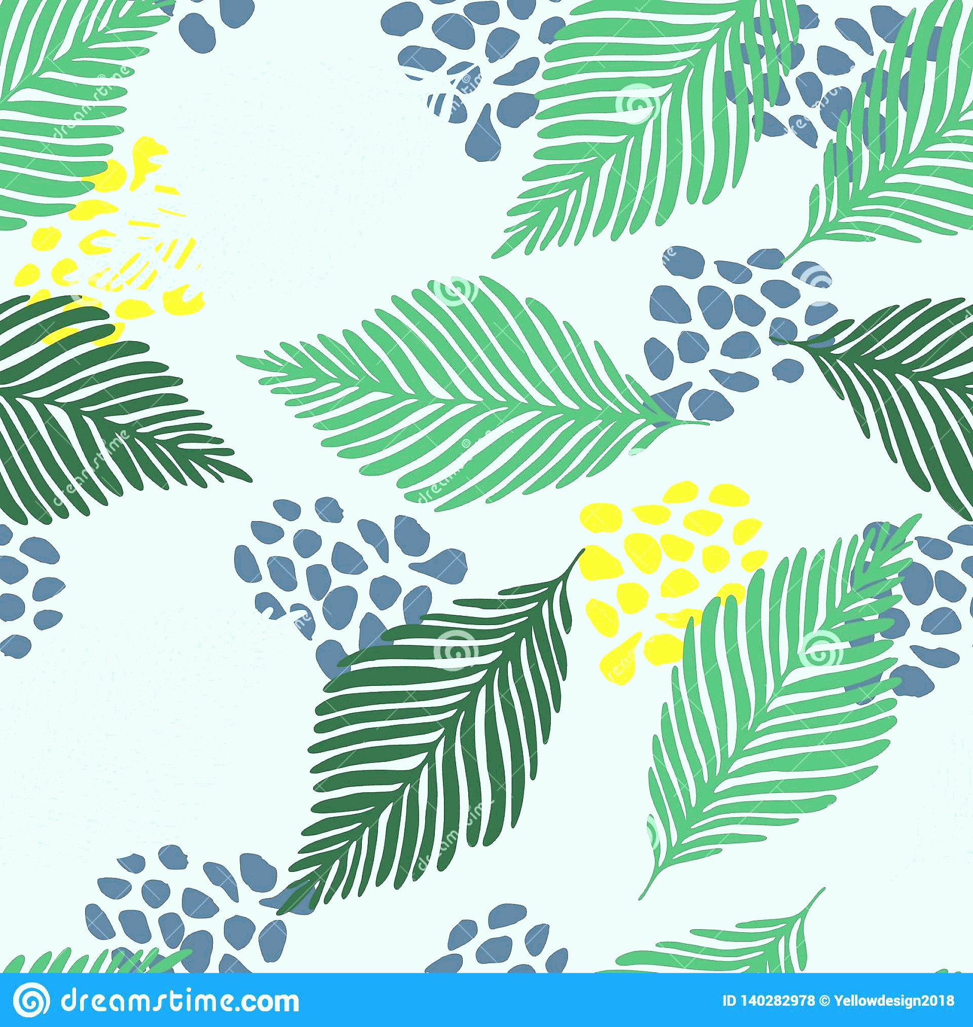 Contemporary Wallpaper Art Vector: Abstract Modern Contemporary Art Style Vector Illustration Floral Collage Seamless Pattern Exotic Jungle Plants Texture Wallpaper Image