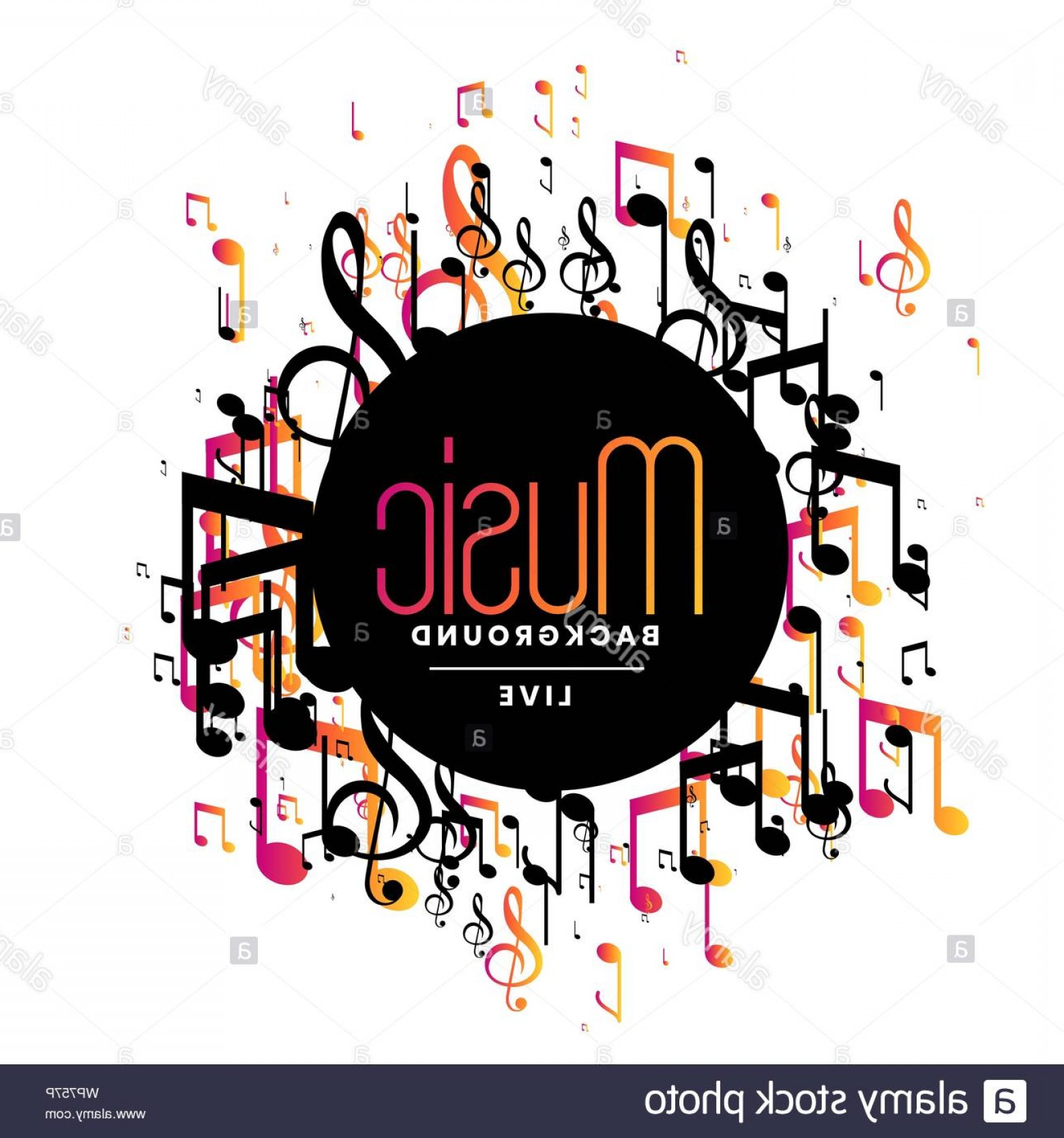 Musical Vector Artwork: Abstract Music Background With Musical Notes Design Image