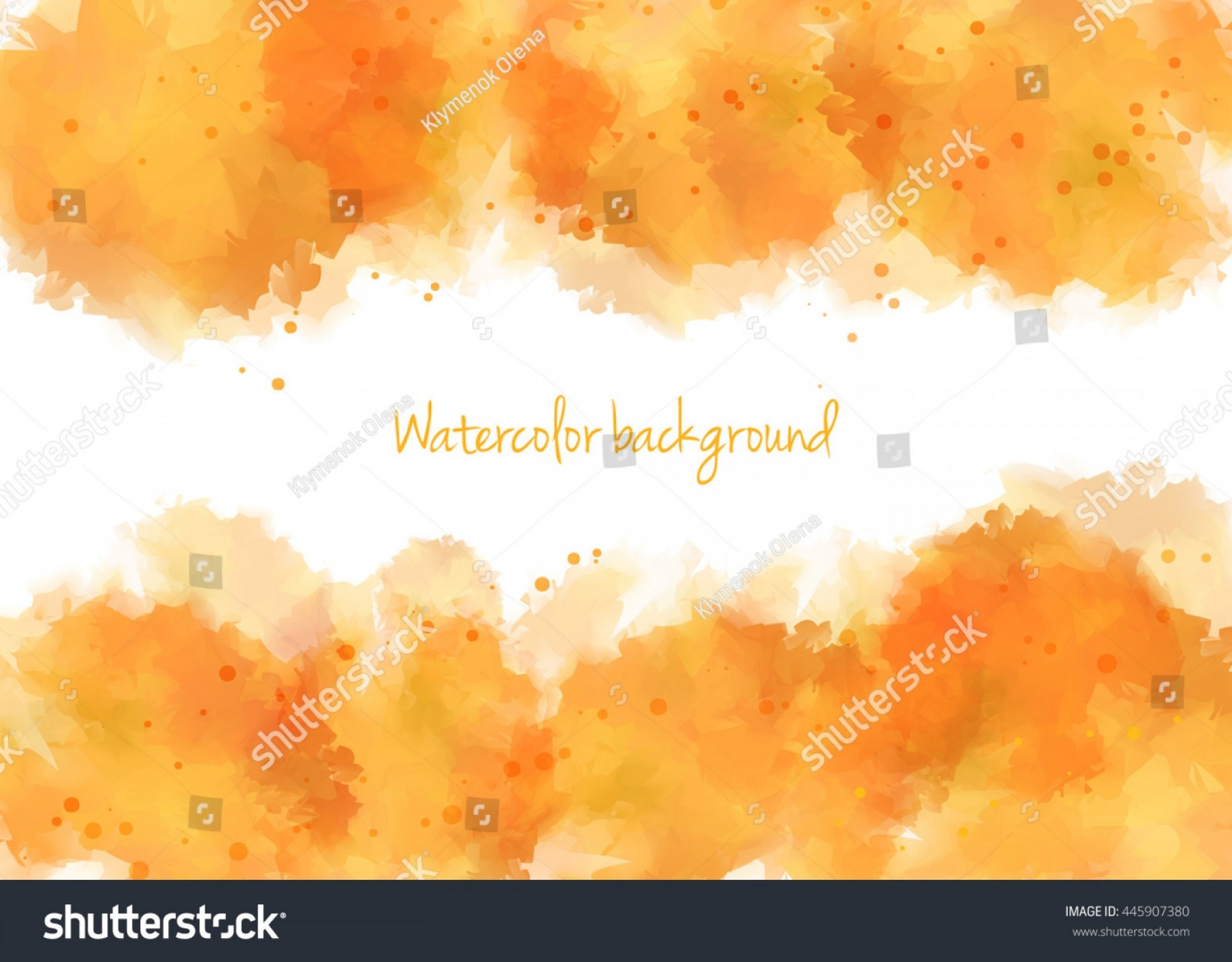Orange Watercolor Vector Free: Abstract Orange Background Like Watercolor Vector