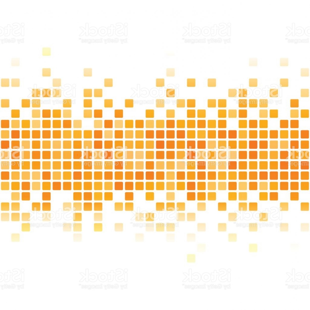 Abstract Orange Pixel Banner On White Background Gm