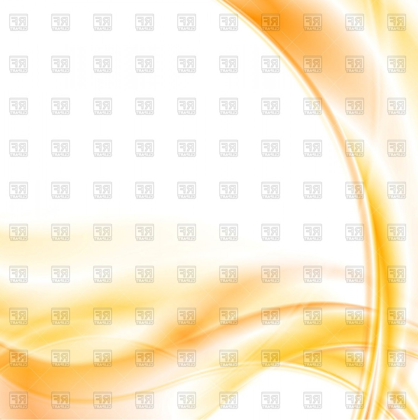 White Orange Vector: Abstract Orange Waves On White Background Vector Clipart