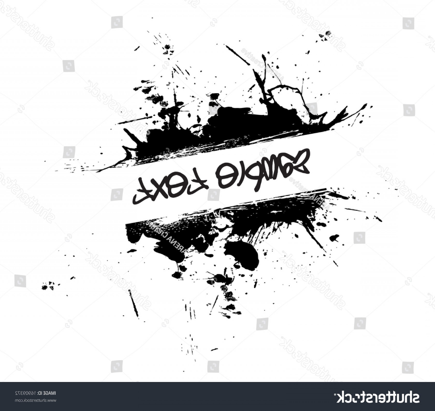 Vector Format Logos Ted Black: Abstract Paint Splatter Frame Logo Black