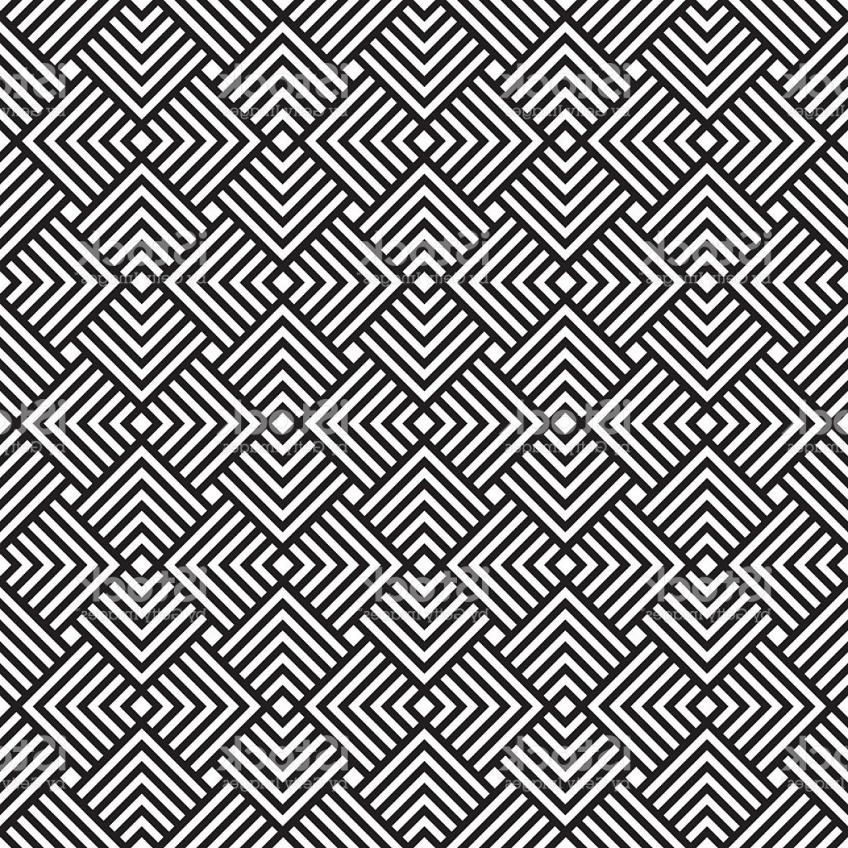 Free Abstract Vector Art: Abstract Seamless Black And White Art Deco Vector Pattern Gm