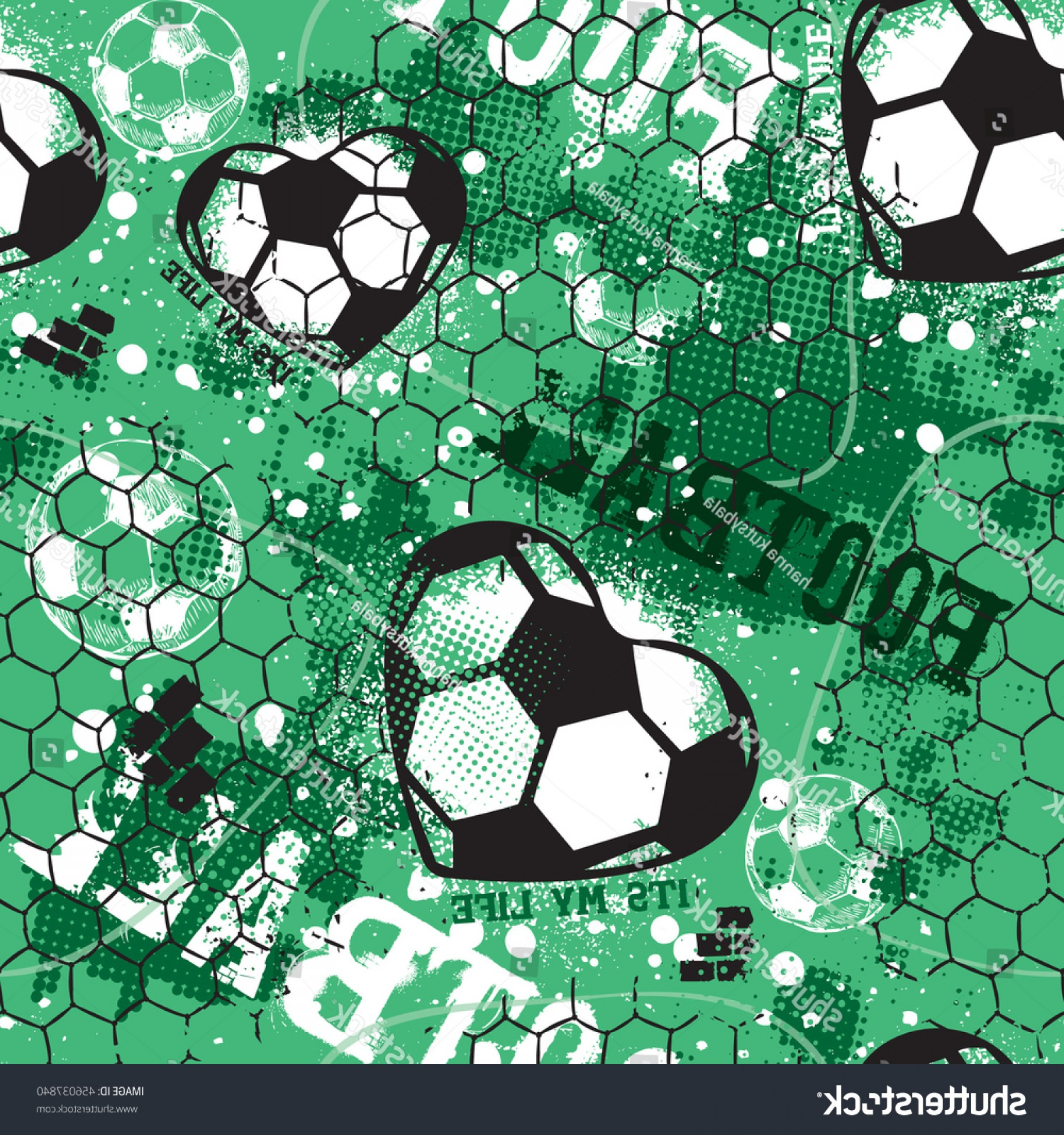 Football Vector Wallpaper: Abstract Seamless Pattern Boy Grunge Sport