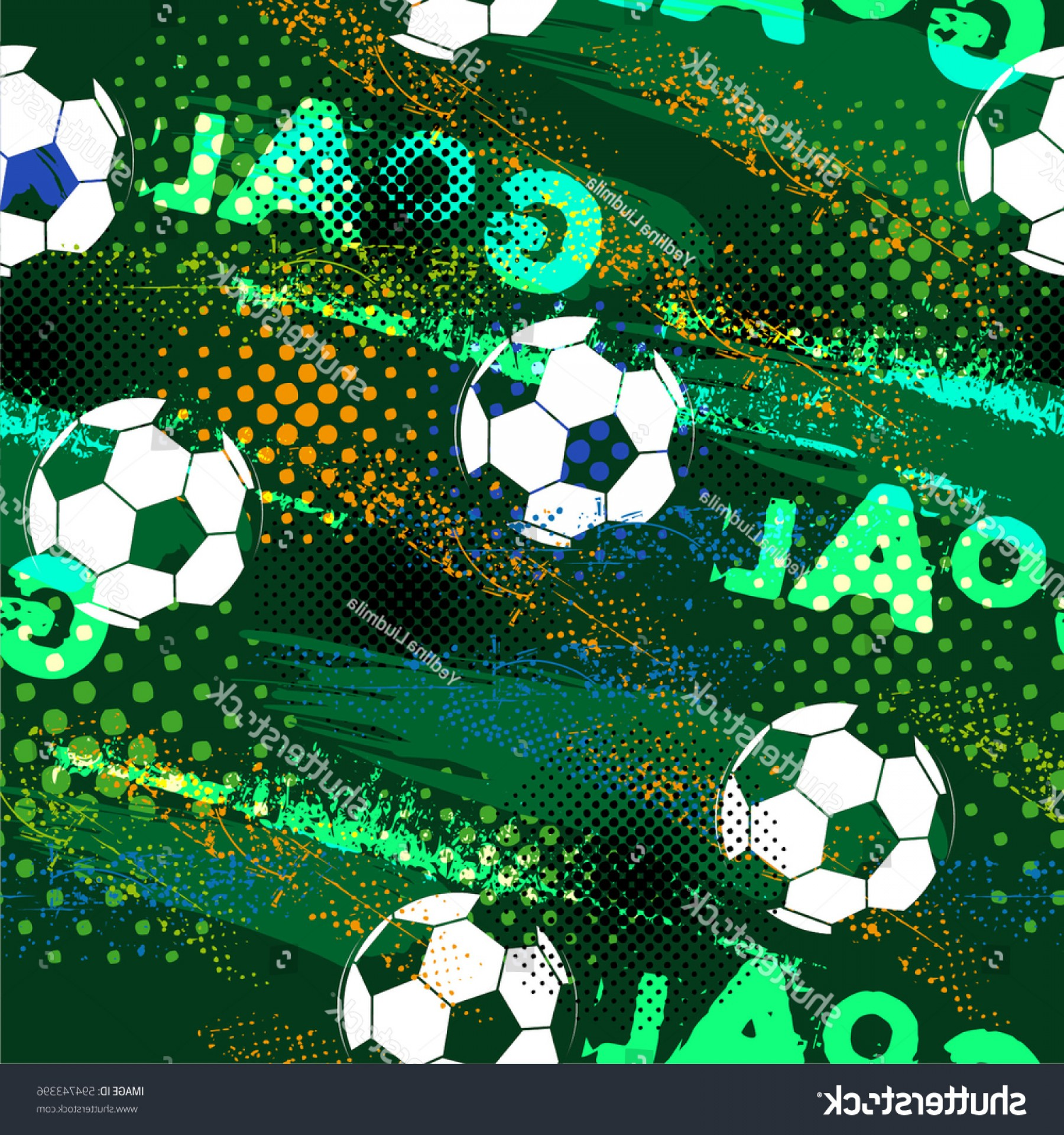 Football Vector Wallpaper: Abstract Seamless Pattern Boys Football Grunge