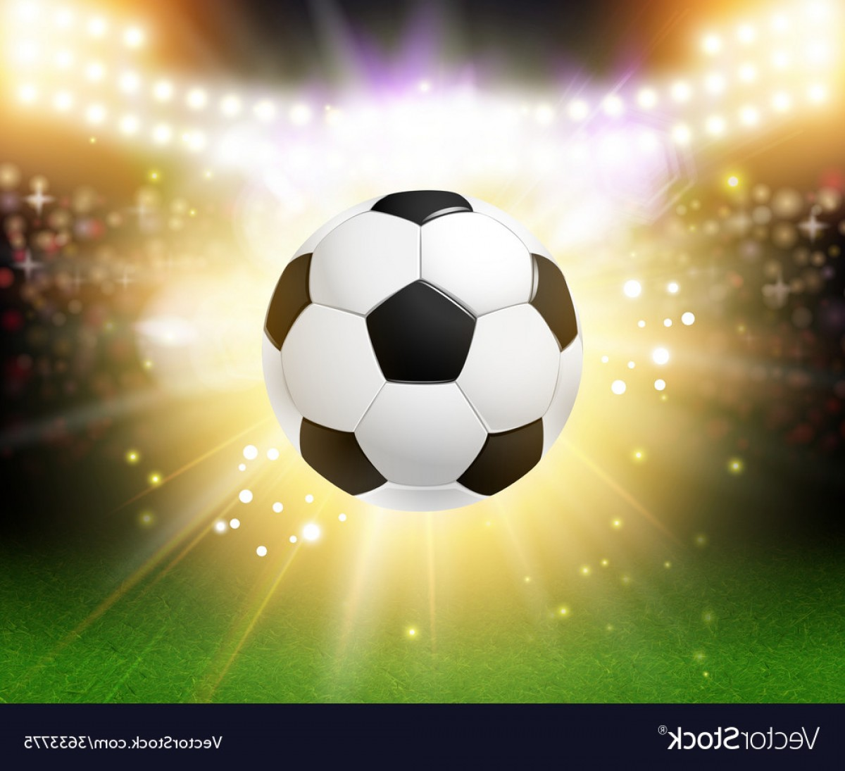 Abstract Football Vector Outline: Abstract Soccer Football Poster Stadium Background Vector