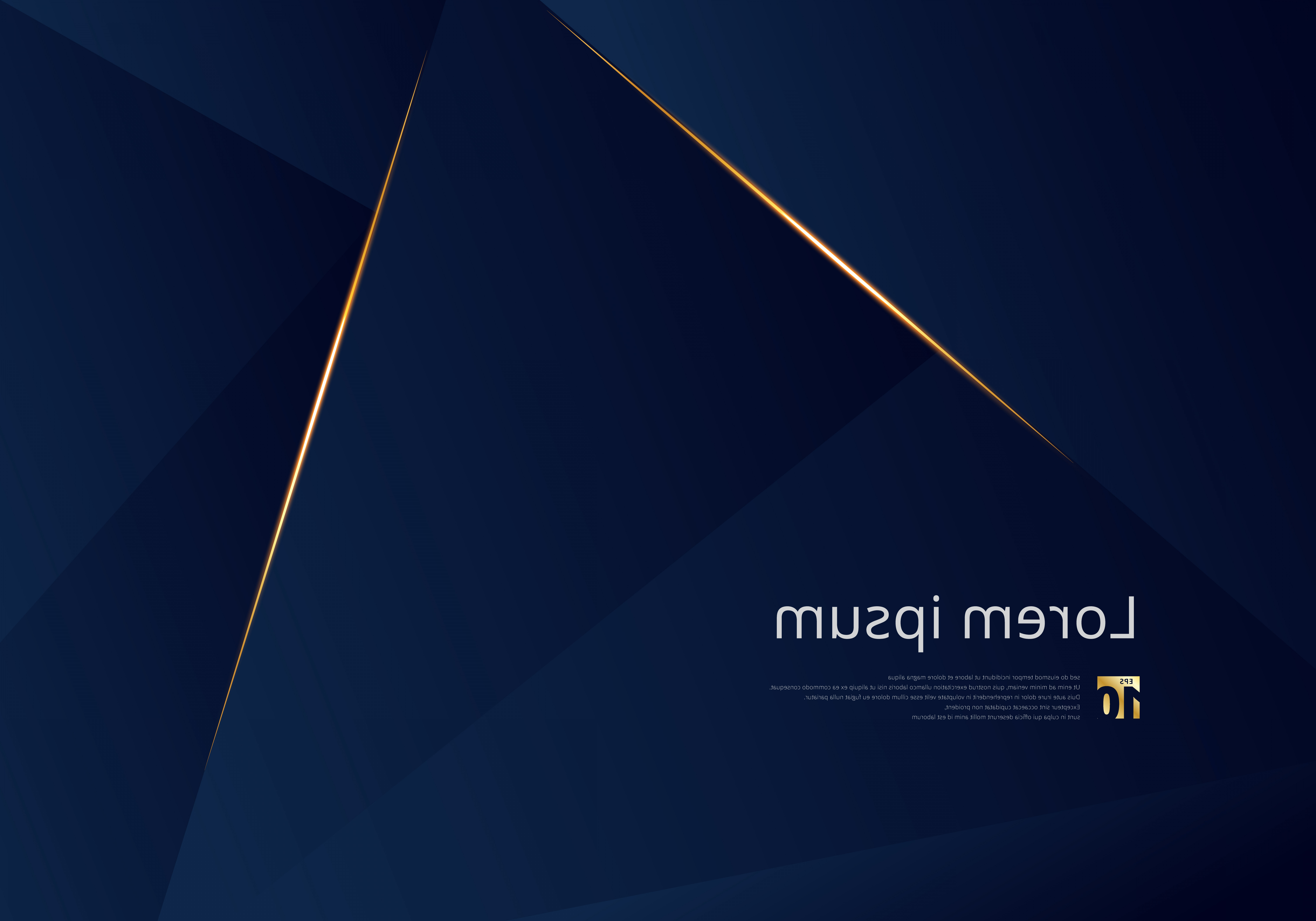 Vector Blue Luxury: Abstract Template Dark Blue Luxury Premium Background With Luxury Triangles Pattern And Gold Lighting Lines