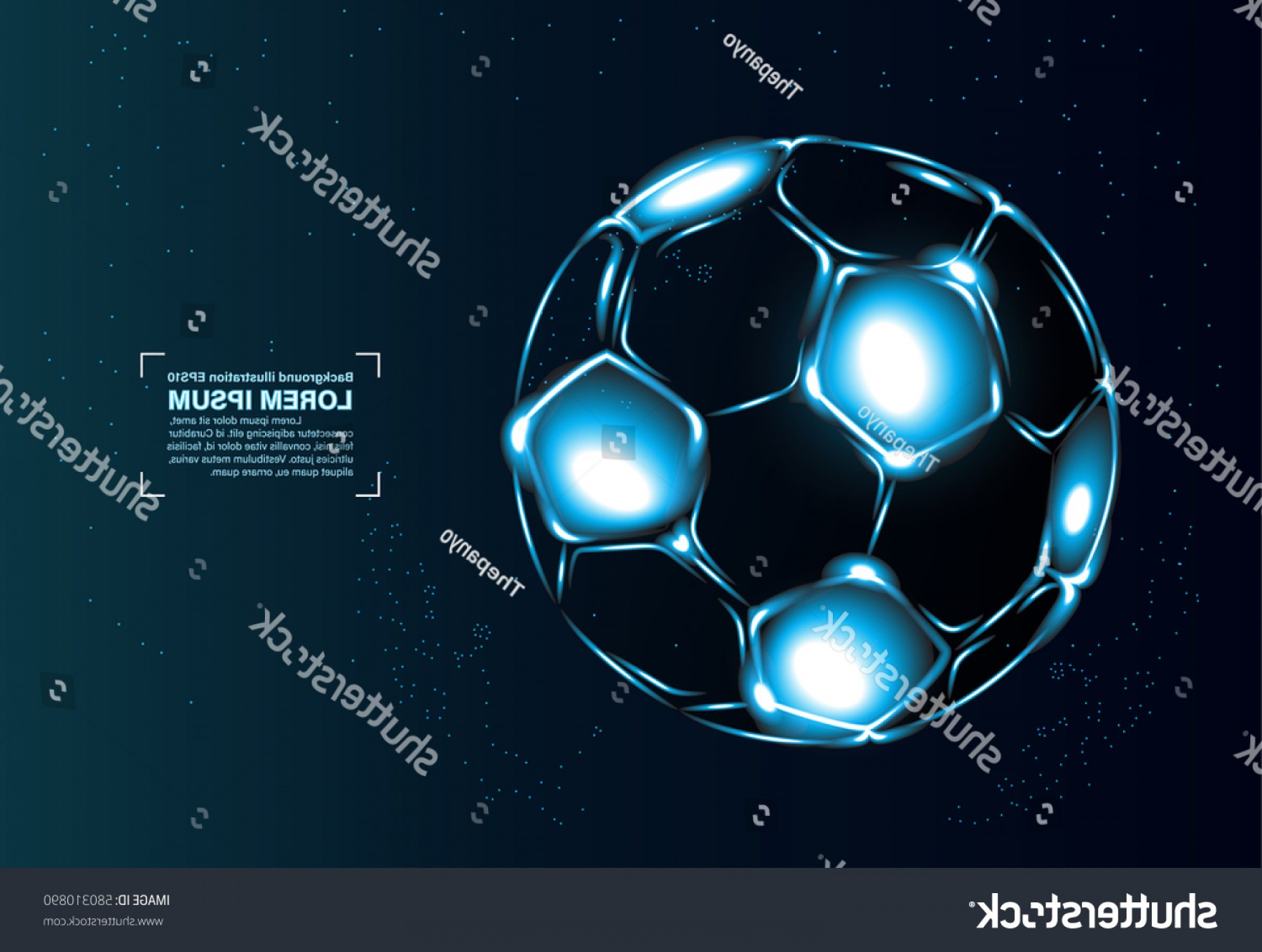 Soccer Blue Background Vector Graphics: Abstract Vector Background Football Soccer Blue