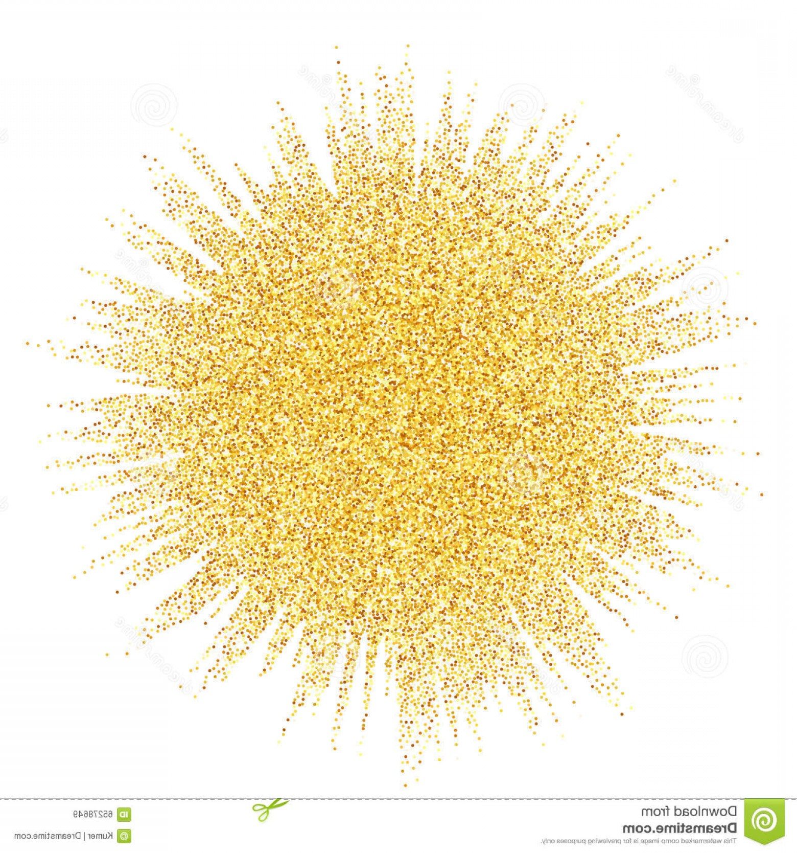 Vector Gold Dust: Abstract Vector Gold Dust Glitter Star Wave Illustration