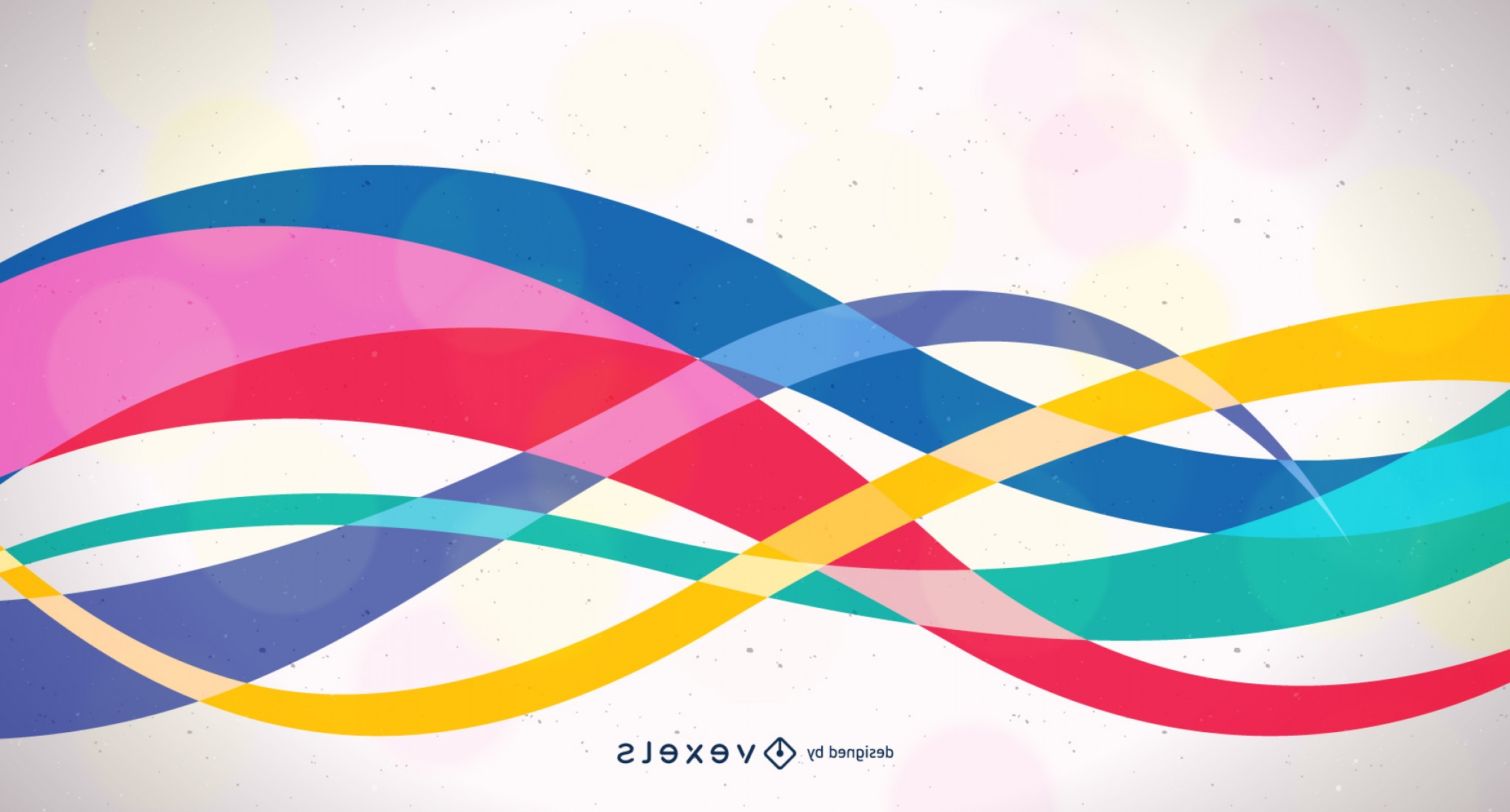 Backgroung Vector: Abstract Wavy Design Colorful Background Vector