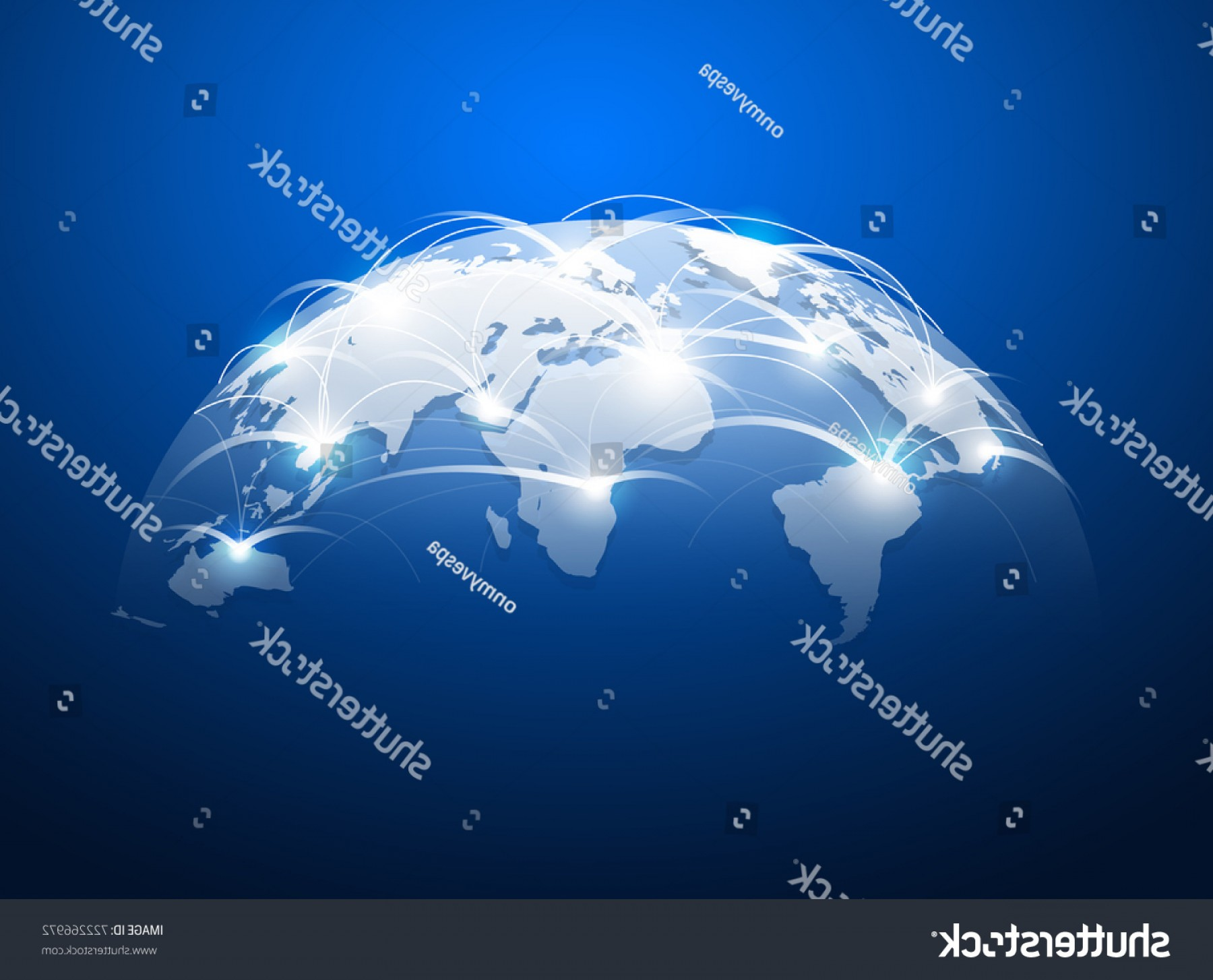 Abstract Vector Art Globe TV: Abstract World Map Network Internet Global