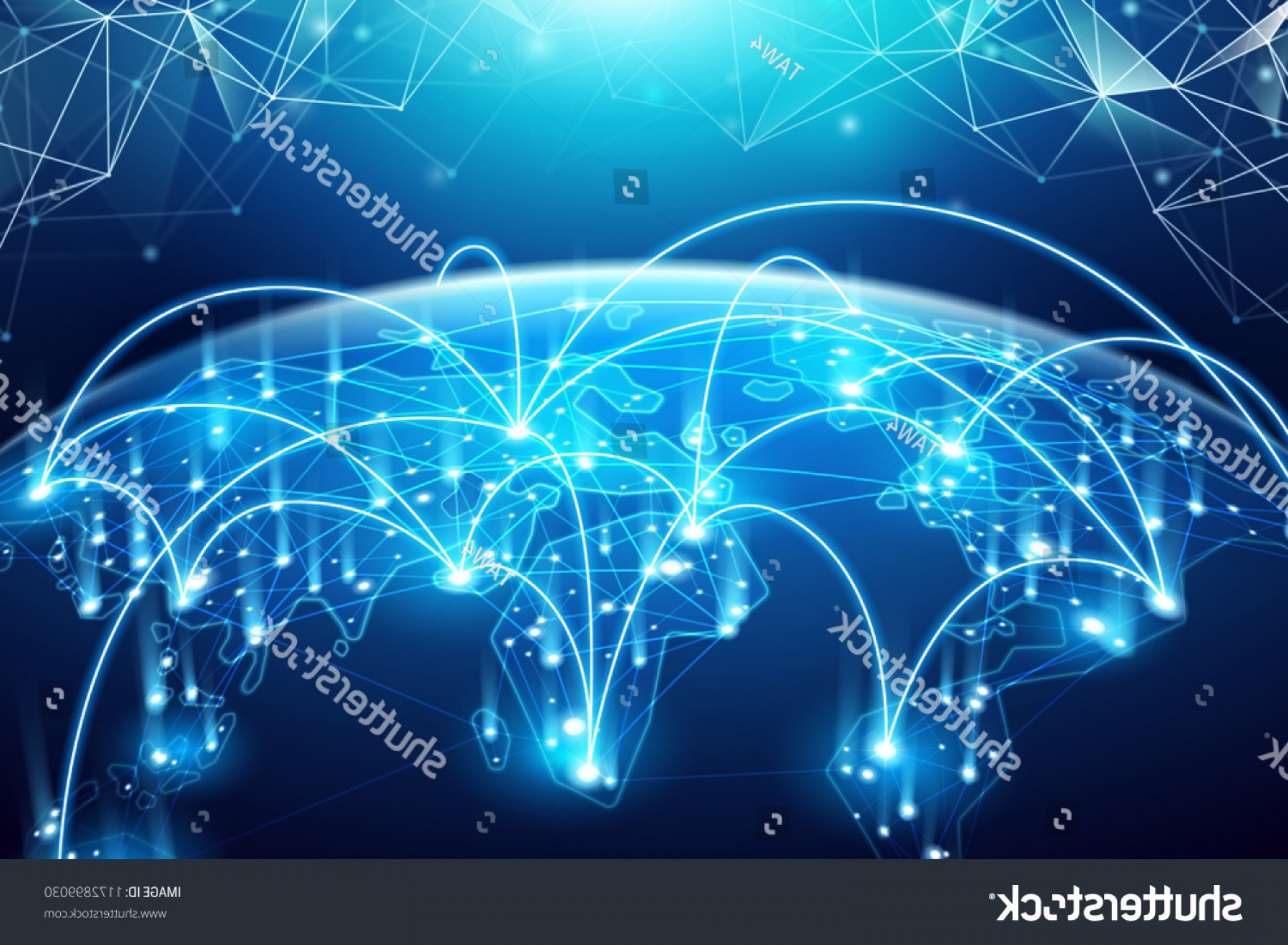 Abstract Vector Art Globe TV: Abstract World Network Internet Global Connection