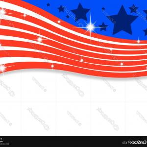 US Flag Vector Lines: Abstract American Flag With Lines