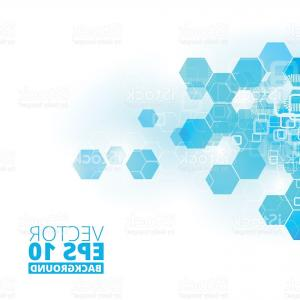 Free Abstract Vector Art: Abstract Blue Business Science Or Technology Background Gm