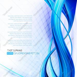 Vector Abstract Elegant Design: Eps Vector Abstract Elegant Blue Wave