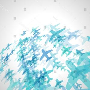 Plane Vector: Abstract Blue Plane Vector Background Scattered