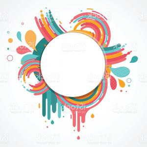 Free Abstract Vector Art: Abstract Blue Swirl Circle Vector Clipart