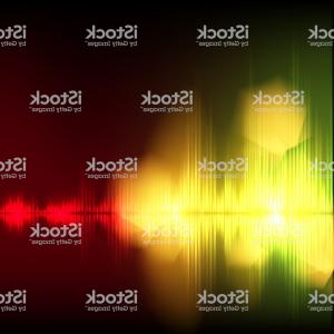 Rock Band Equalizer Vector: Abstract Equalizer Background Yellow Red Wave Gm