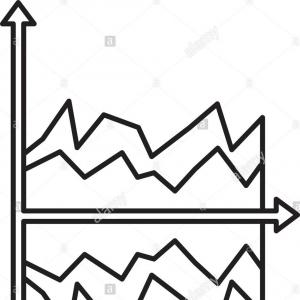 Vectors Abstract Line Graph: Abstract Financial Chart Uptrend Line Graph Abstract Financial Chart Uptrend Line Graph Communicates Data Charts Image