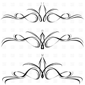 Black Abstract Lines Vector: Abstract Line Elements Decorative Ornament Vector Clipart