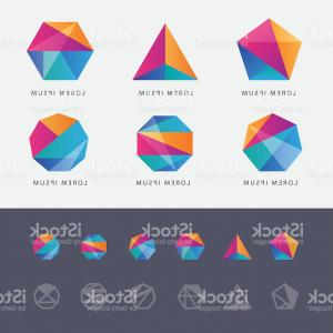 Absract Shape Logo Vector: Abstract Shape Geometry Circle Color Logo Vector
