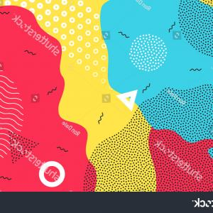 Vector Overlay Graphics: Abstract Pop Art Color Background Bright