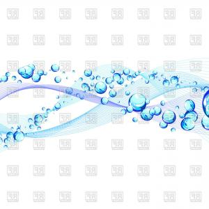 Free Abstract Vector Art: Abstract Light Water Background With Bubbles Vector Clipart