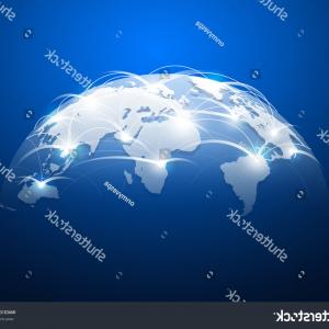 Abstract Vector Art Globe TV: Earth Hologram Background Abstract Vector
