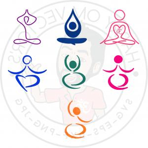 Yoga Vector Silhouette SVG: Abstract Yoga Poses Vectors Svg Dxf For