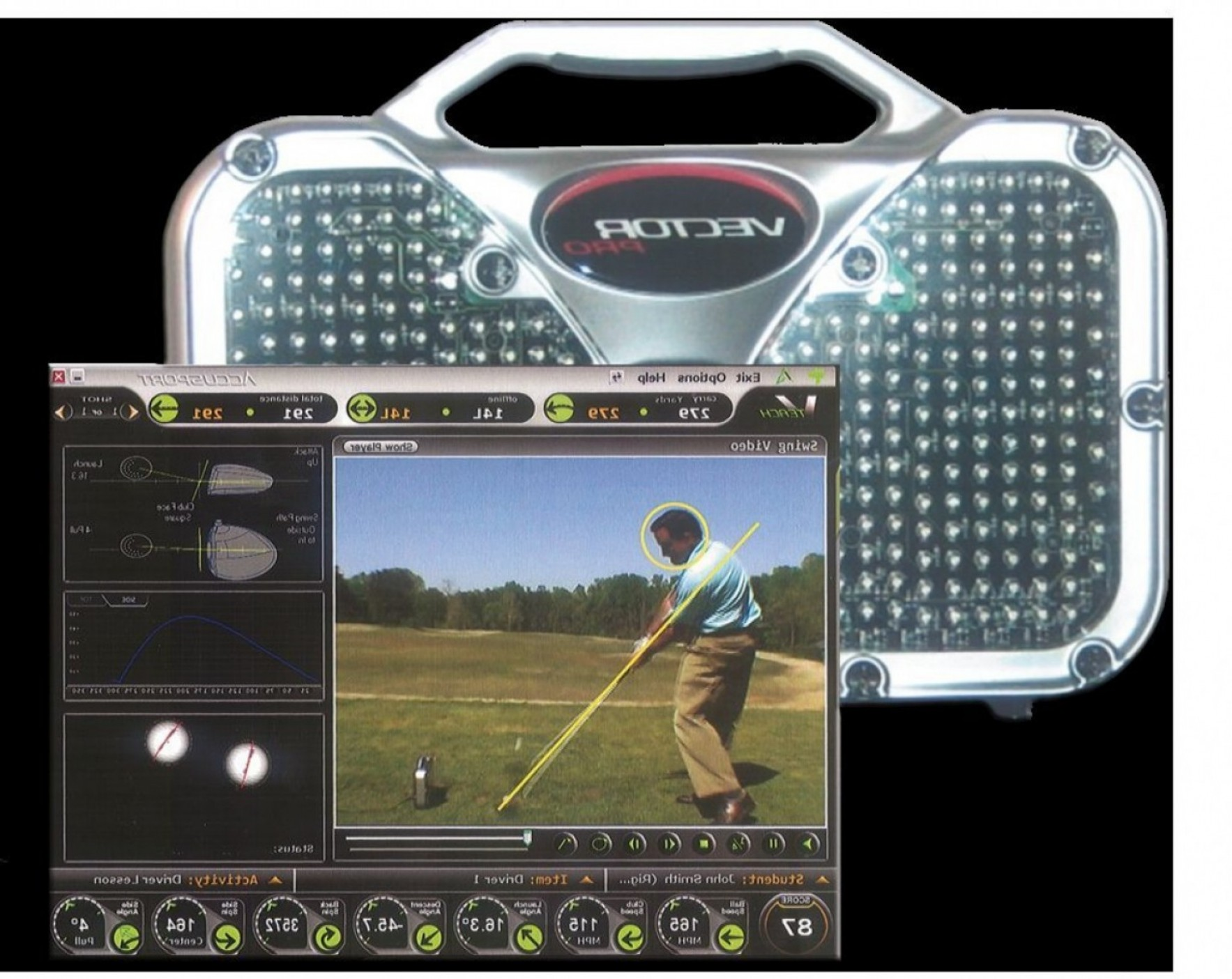 Vector Golf Simulator: Accusport Vector Pro Golf Launch Monitor Great Condition