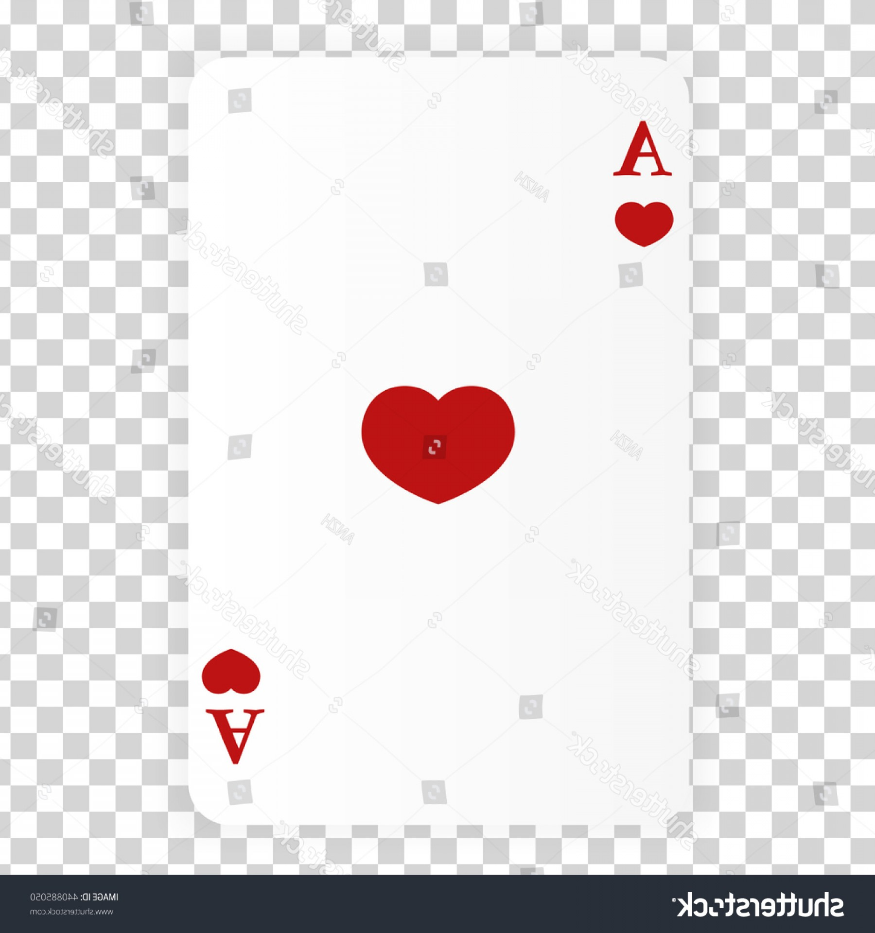 Heart Card Vector: Ace Hearts Card Poker Vector Playing