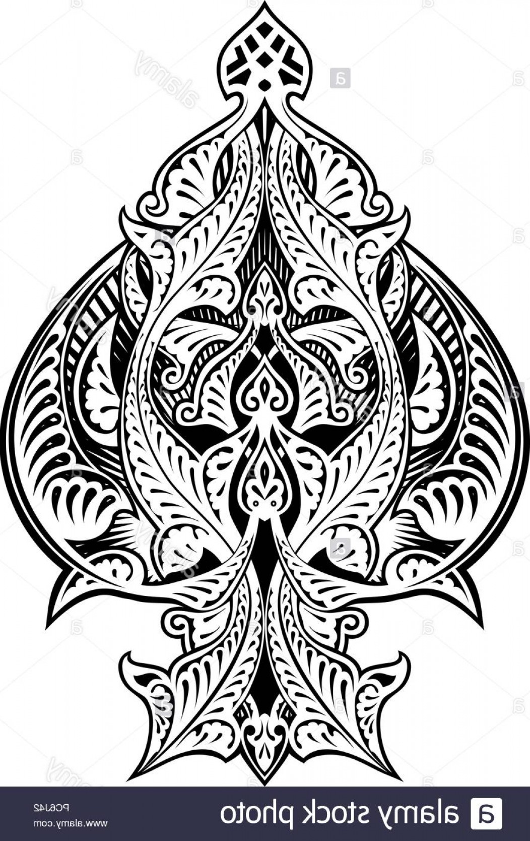 Spades Vector Art: Ace Of Spades Icon Shape Abstract Pattern Image