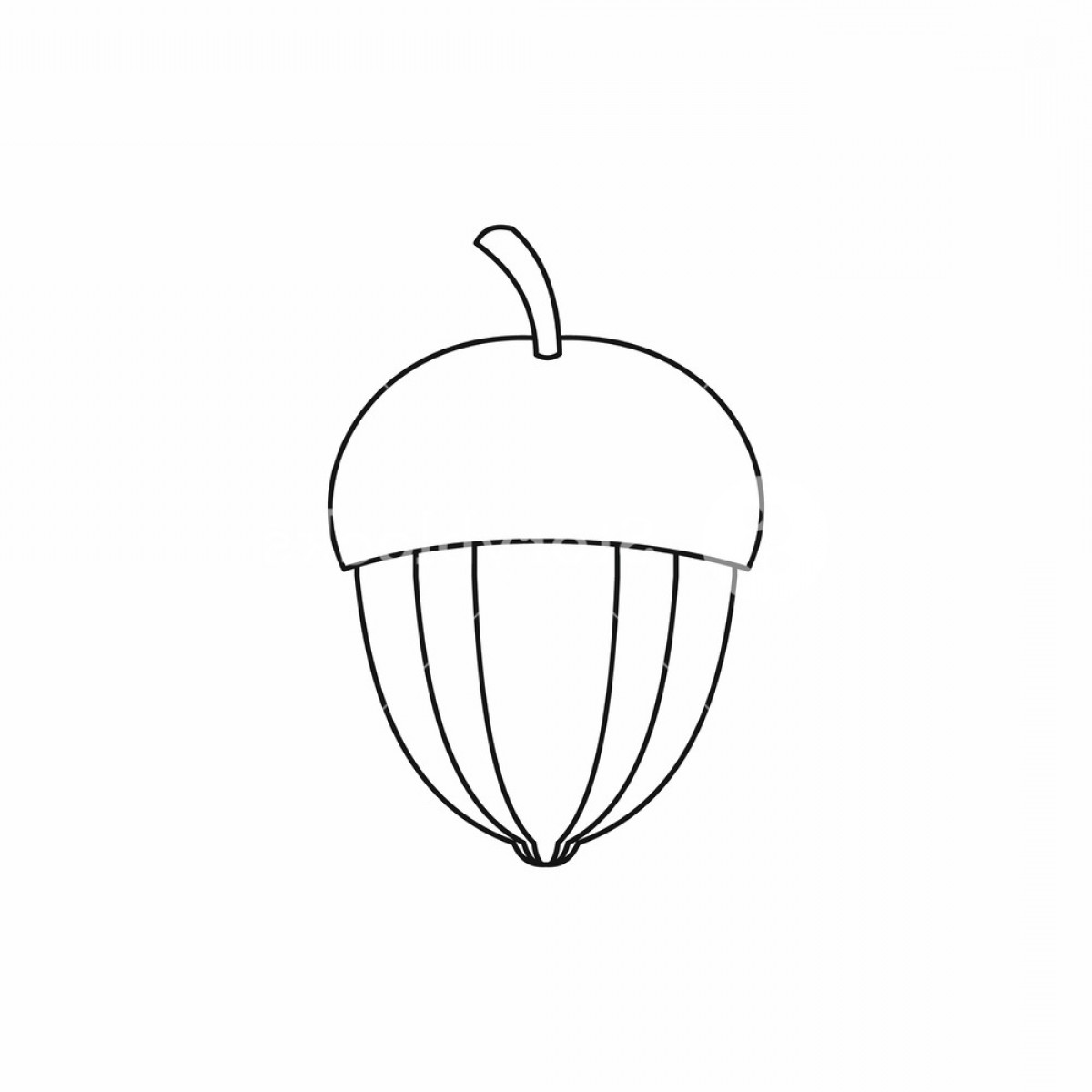 Acorn Outline Vector: Acorn Icon In Outline Style Isolated Vector Illustration Bztoiwizjfqyxpg