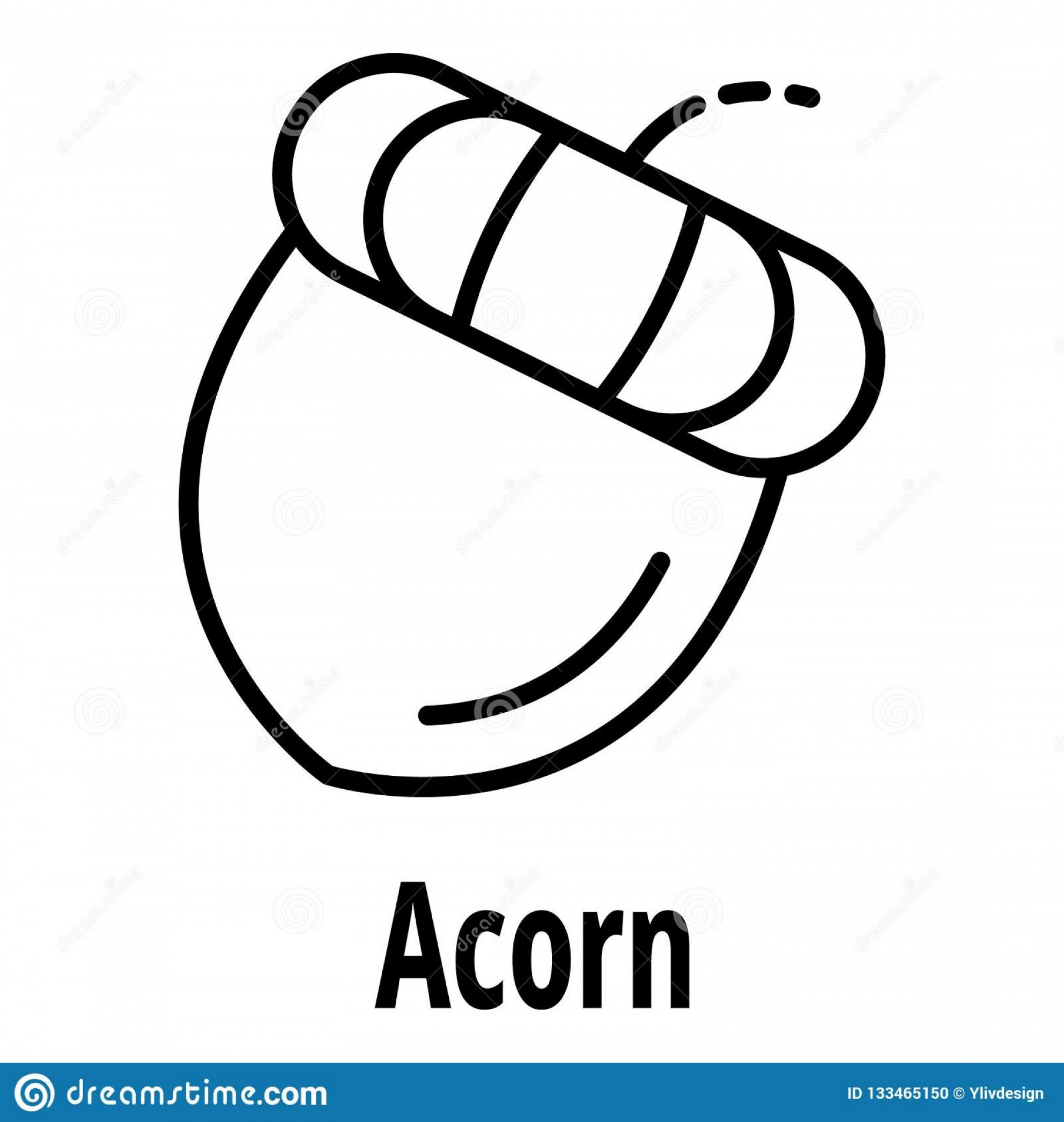Acorn Outline Vector: Acorn Icon Outline Acorn Vector Icon Web Design Isolated White Background Acorn Icon Outline Style Image