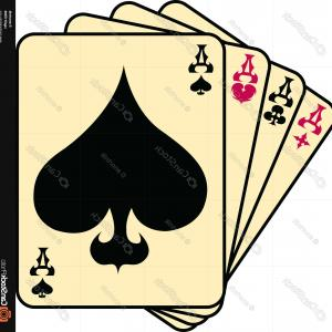 Spade Card Vector: Stock Illustration Isolated Spade Design Icon Card Game Poker Win Chance Casino Theme Vector Illustration Image
