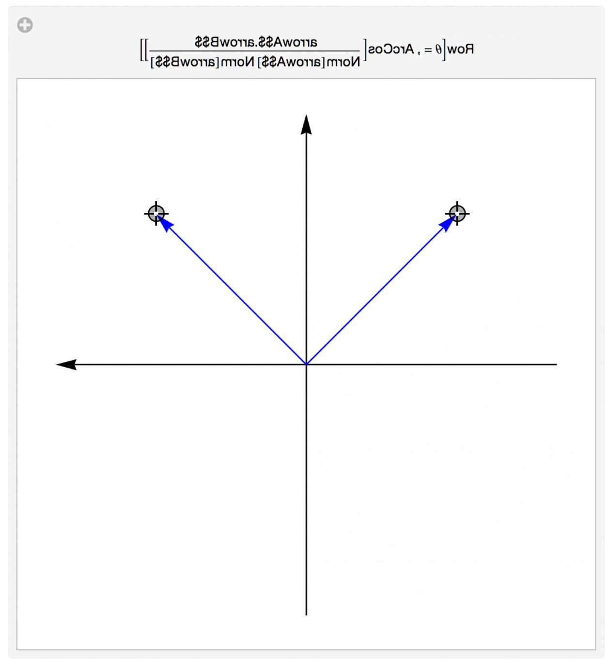 Vector Addition With Angles: Adding A Title That Includes Angle Between Two Vectors In Graphic In Manipulate