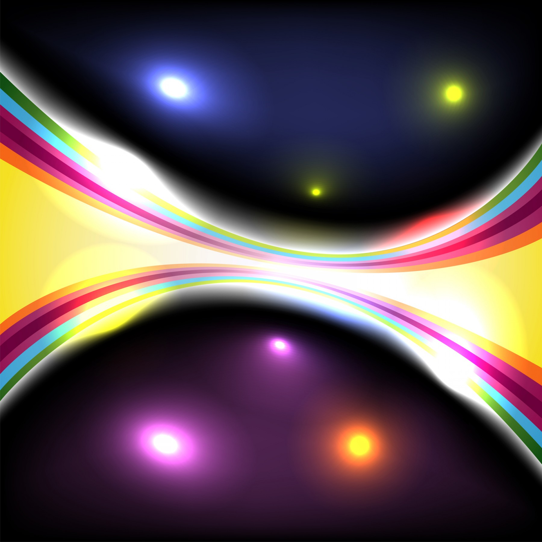 Free Vector Backgrounds Illustrator: Adobe Illustrator Tutorial Abstract Glowing Effect