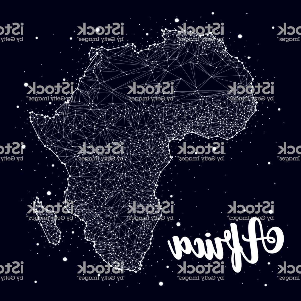 Space Vector Graphics: Africa Map Constellation Star Space Vector Gm