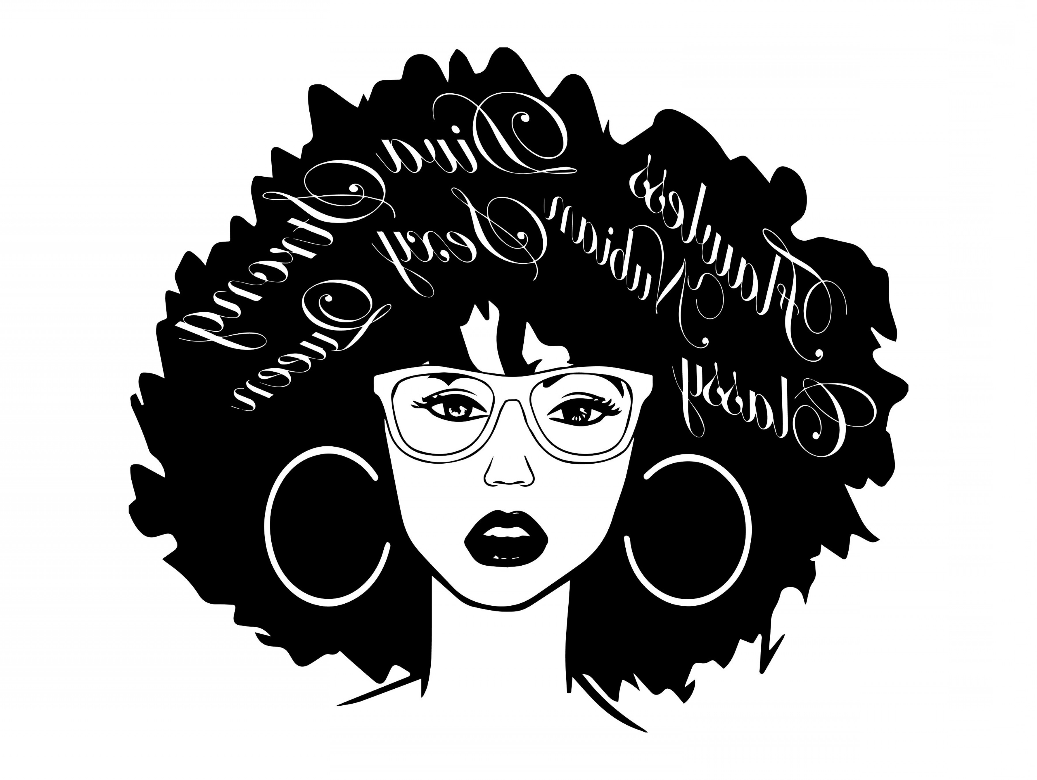 Black Afro Woman Vector: Afro Woman Svg Nubian Princess Black