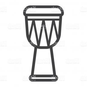 Drumline Vector Art: Coal Machine With Rotating Cutting Drum Line Icon Gm