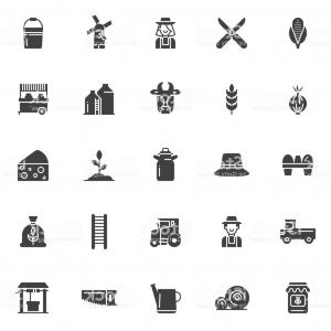 Agriculture Vector Icons: Agriculture Icon Vector Icons Set