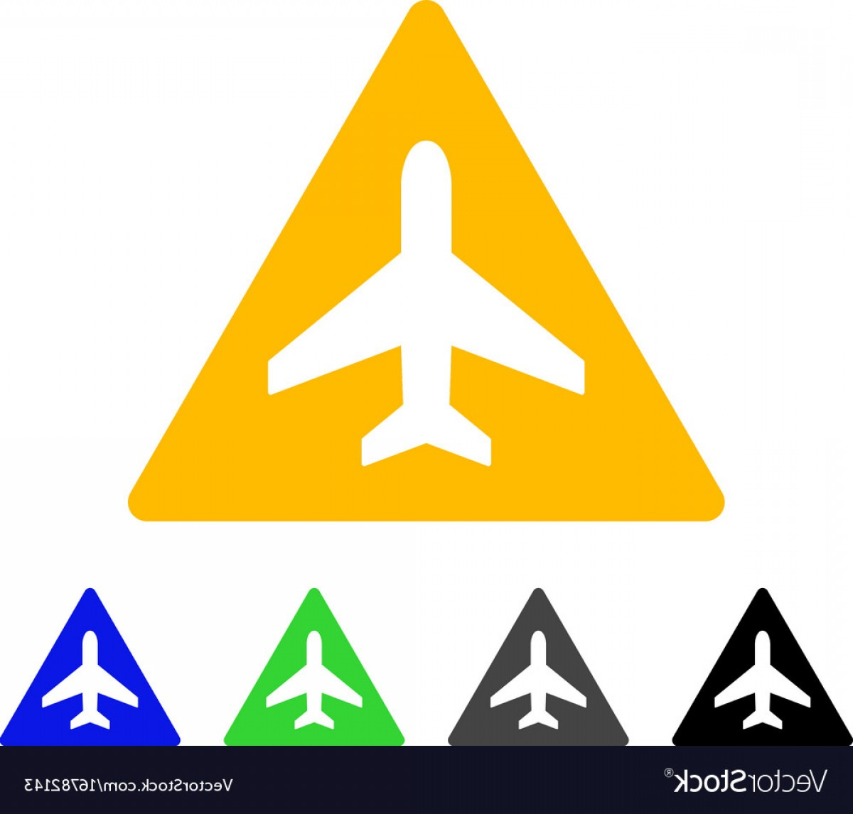Vector Airplane Problem: Airplane Problem Flat Icon Vector