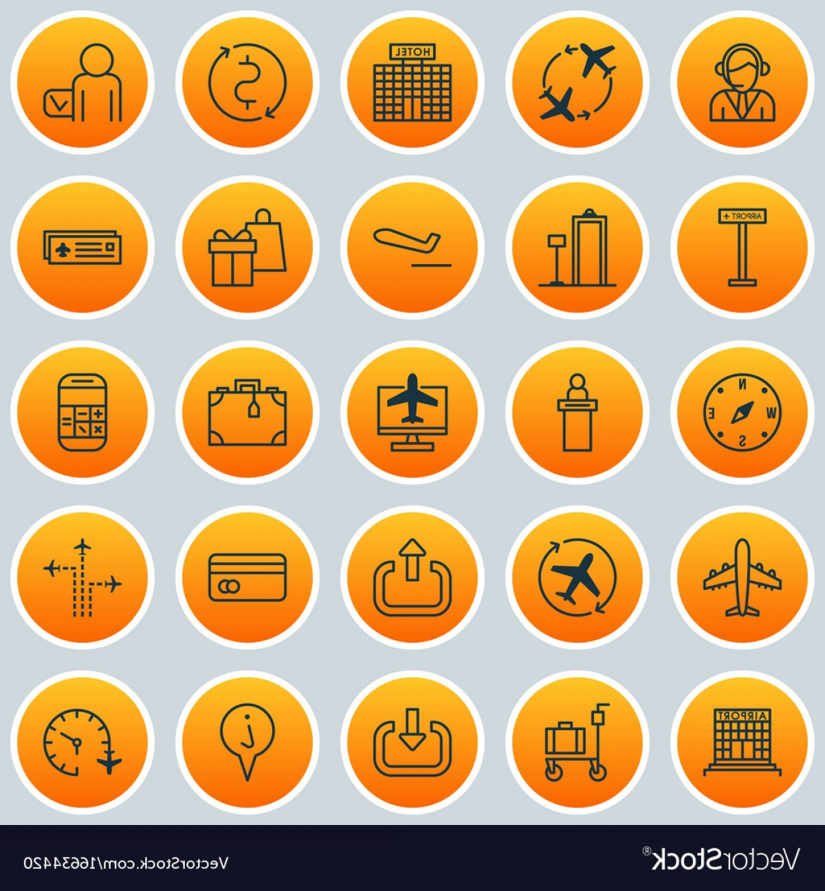 FLIR Flight Path Vector: Airport Icons Set Collection Of Flight Path Vector