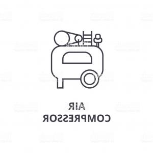 Vector Power On Board Compressor: Air Compressor Line Icon Gm