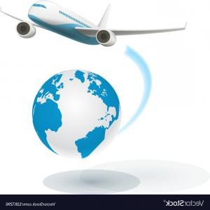 Airplane Travel Vectors: Flat Vector Web Banner On Theme